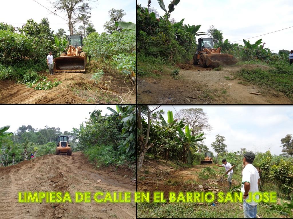 LIMPIESA DE CALLE EN EL BARRIO SAN JOSE