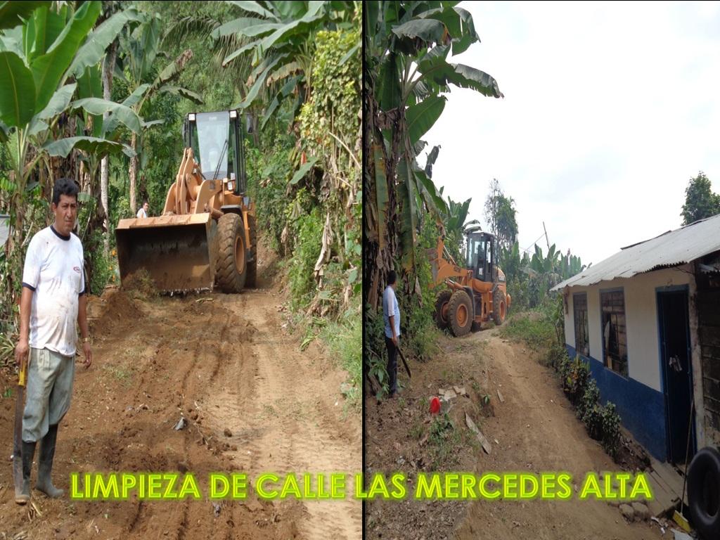 LIMPIEZA DE CALLE LAS MERCEDES ALTA