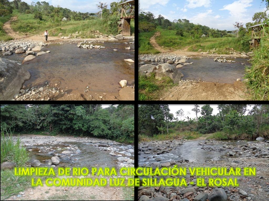 LIMPIEZA DE RIO PARA CIRCULACIÓN VEHICULAR EN LA COMUNIDAD LUZ DE SILLAGUA - EL ROSAL