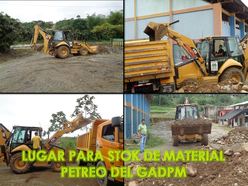 LUGAR PARA STOK DE MATERIAL PETREO DEL GADPM