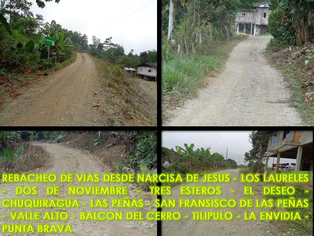REBACHEO DE VIAS DESDE NARCISA DE JESUS - LOS LAURELES 001