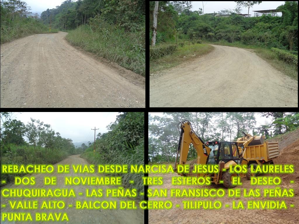 REBACHEO DE VIAS DESDE NARCISA DE JESUS - LOS LAURELES 002